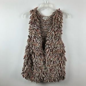 ANTHROPOLOGIE HAND KNIT DOLLIE SHERBET LOOP VEST